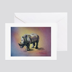 Greeting Cards (Pk of 10): RHINOCEROS Greeting Car